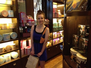 Me in a boutique chocolate shop located in The Venetian. Whee!