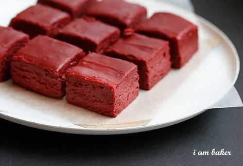 Red Velvet Fudge via I Am Baker