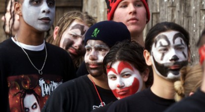 Some juggalos in all their glory. Upsetting. Image via Rooftop Films.