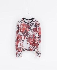 Floral print sweatshirt, $59.90