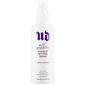 Urban Decay All Nighter Long-Lasting Makeup Setting Spray. $14.00 - $29.00. Image via Sephora.