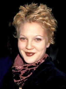 drew barrymore overplucked eyebrows